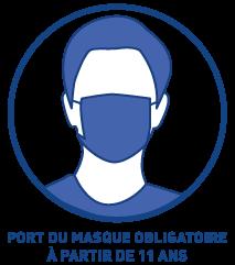 Port du masque obligatoire à partir de 11 ans