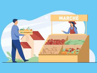 Marché du vendredi étoffé et marché gourmand en décembre